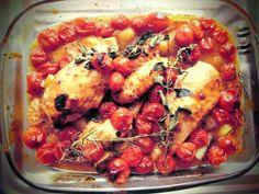 hähnchen + tomaten