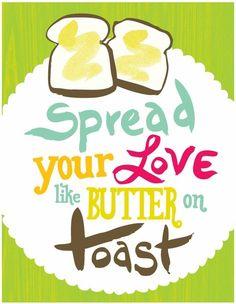 Spread the love kitchen print