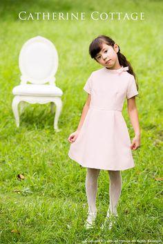 子供ドレス バラ柄ふくれジャガードワンピース 子供服 メイン