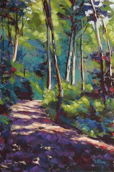 Landscape Paintings and photographs : Mary McInnis Morning Walk III Oil Pastel Paintings, Paintings I Love, Pastel Art, Nature Paintings, Landscape Paintings, Pastel Landscape, Watercolor Landscape, Abstract Landscape, Watercolor Art