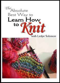 Learn or switch to the ergonomic method of Continental knitting.