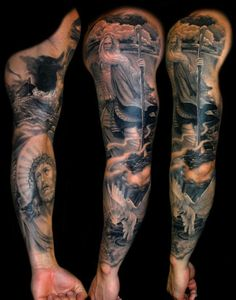 Superb Religious sleeve by Artist James Tats