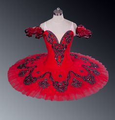 NEW COLLECTION! Professional ballet costume suitable for any Spanish variation of the classical repertoire: Kitri, Paquita, Carmen and many other variations. The fitted bodice is made using semi-stret