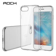 Rock voor apple iphone 7/7 plus tpu siliconen case cover clear ultradunne achterkant voor iphone 7