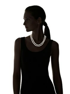 Radiance Pearl 6.5-7.0mm Double Strand White Akoya Pearl Necklace