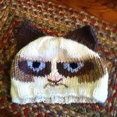 Grumpy Cat Crochet Hat Pattern Free : Gallery For > Crochet Grumpy Cat Hat