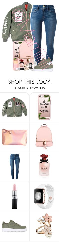 """1 day left till bday"" by marriiiiiiiii ❤ liked on Polyvore featuring Casetify, MICHAEL Michael Kors, Frame Denim, Dolce&Gabbana, MAC Cosmetics, NIKE and Accessorize"