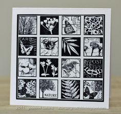 Black & White Inchies Card by stampingmathilda, via Flickr
