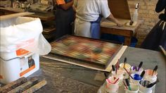 Marbling technique Videos by LP_lpres from album Marbling 1. Skimming and paint prep 2. Stone pattern 3. Pulling a printed sheet 4. Cleaning the tray 5. Gelg...