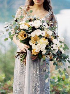 Graceful lakeside bridal shoot in Washington via Magnolia Rouge