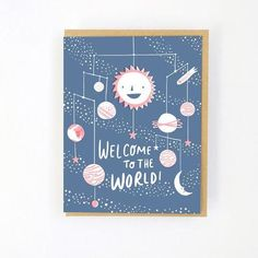 Letterpress printed on recycled paper. Made in Portland, OregonDimensions: × hello! New Baby Greetings, Ohh Deer, Quirky Art, New Baby Cards, Letterpress Printing, Art Paintings, Making Ideas, New Baby Products, Birthday Cards
