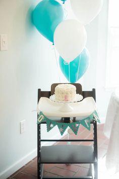 Winter ONEderland Themed 1st Birthday Party via Kara's Party Ideas KarasPartyIdeas.com Cake, printables, decor, tutorials, recipes, and more! #winterparty #winterwonderlandparty #winteronederland #winterpartyideas (21)