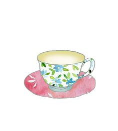 Cup of Tea Print Shabby chick Retro fun  kitchen by TheJoyofColor, $21.00