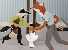"Jayme McGowan created this ""Roald Dahl Papercuts"" based on the book ""Fantastic Mr. Fox."""