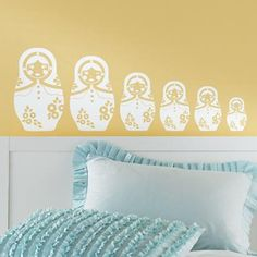 Nesting Doll Decal :: www.landofnod.com :: would be so cute in a kid's room