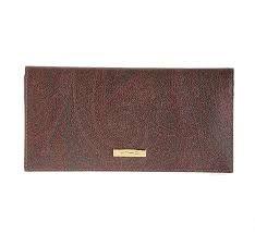 etro wallet brown