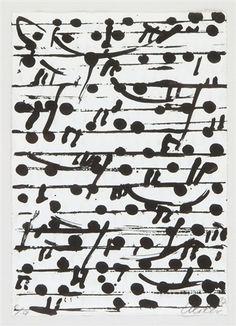 Optische Partitur I-III (3 works) by Günther Uecker