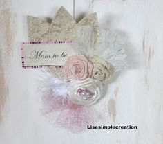 Baby shower decorations Mom to be pin Baby by LiseSimpleCreation