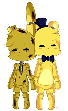 Golden Freddy y Springtrap