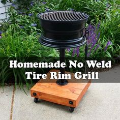 Homemade No Weld Tire Rim Grill