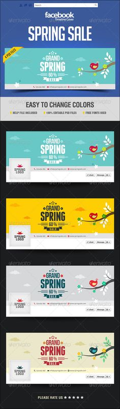 Spring Sale Facebook Cover Page - Facebook Timeline Covers Social Media