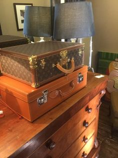 Two very beautiful vintage 'as new' cases available at Rhodes-Wood Harrogate
