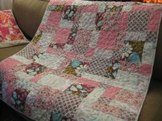 simple quilt patterns for beginners | Quilt for Fabric Crush - Quilting In The Rain