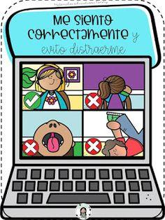 Online Classroom, Classroom Rules, Classroom Posters, School Classroom, Go Math, First Day Of School Activities, School Images, Teacher Stickers, Virtual Class