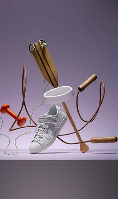 Sport Equipments Floating in Air by  Oliver Schwarzwald and Volker Hobl