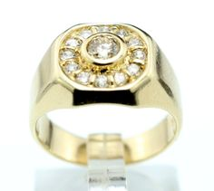 14K YELLOW GOLD 1.00 CT DIAMOND COCKTAIL RING SZ 7.25 B41 #Unbranded #Cocktail