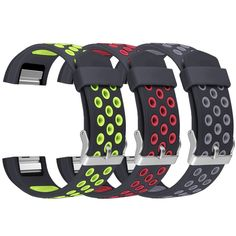 Band for Fitbit Charge 2, UMAXGET Silicone Replacement Sport Strap Wristband for Fitbit Charge 2 Fitness Smart Watch Accessories Pack 3 Small Large, Wristbands - Amazon Canada