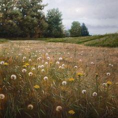 """Seeding Meadow,"" by Renato Muccillo 30 x 30 - oil $5930 Framed"