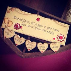 Bespoke/personalised handmade wooden plaque by TheLittleRedHut