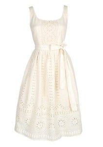 White Eyelet Dress.  Never out of fashion