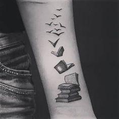 Cool tattoo .. #bookworm #booksandcoffee #tattoo