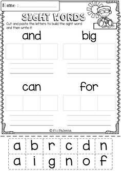 Free Letter of the Week A is designed to help teach letter