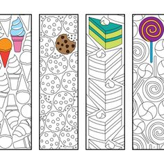 Bookmarks – Page 4 – Scribble & Stitch Colouring Pages, Adult Coloring Pages, Free Coloring, Free Printable Coloring Pages, Bookmarks Kids, Bookmarks To Color, Art Plastique, Elementary Art, Zentangle