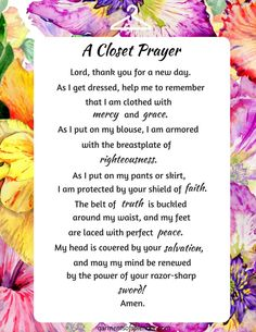 Click each image to download these prayers and print them for your personal use!   Click here!  Download PDF Here:a-kitchen-prayer-1  Download PDF Here:a-kitchen-prayer-2 ACTS Prayers Armor of God scripture card gift