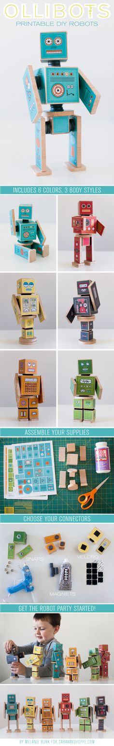 Build your own robot blocks