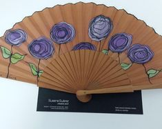 Modern hand fanTrendy hand fanStylish hand fanFashionable   Etsy Hand Fan, Contemporary, Modern, Stencils, Fans, Stripes, Etsy, Paper, Painting