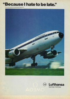 1990 Lufthansa German Airlines Advert - Vintage Advertising Posters | Paper Bygones