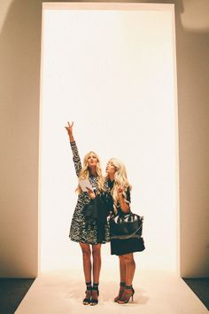 Cara Loren and barefoot Blonde NYFW
