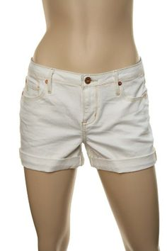 Quiksilver Women`s QSD Gypsy Tour Short Suns w/Gold Stitching Shorts White $42.00
