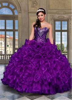 Cheap gowns china, Buy Quality dress tailor directly from China dress export Suppliers: 2016 Purple Cheap Quinceanera Dresses Sweethert Crystals Orgabza Ball Gown Vestidos De 15 Anos Sweet 16 Dresses Sweet 15 Dresses, Sweet Dress, Pretty Dresses, Tulle Ball Gown, Ball Gown Dresses, Prom Dresses, Dresses 2016, Wedding Dresses, Dress Vestidos