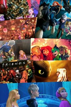 More Crossover Pictures I love! JackxElsa,  Rapunzel Merida Anna and Elsa, The Big Four, The Big Four Ladies, Jackunzel, The Big Four Friends