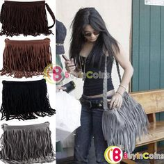 Wholesale Fashion Hot Women Tassel Shoulder Messenger Cross Body Shopping  Bag Tote Handbag 30133 4a45e51201b30