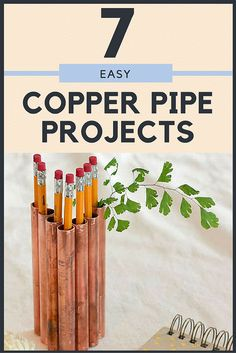 Things You Can Make with Copper Pipes—Easily! These cool copper pipe projects are an easy DIY way to incorporate the copper trend into your home design.Pipe dream Pipe dream may refer to: Recycled Crafts, Diy Crafts, Copper Gifts, Copper Decor, Homemade Furniture, Furniture Projects, Diy Furniture, Metal Working, Easy Diy