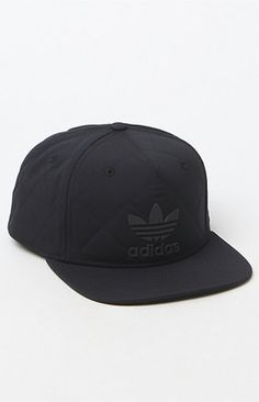 Incorporate adidas' signature style on the daily with theRiley Snapback Hat. This go-to cap has a quilted design, a tonal adidas Trefoil logo on the front, and an adjustable snapback panel for a more personalized fit.   Quilted snapback hat adidas logos on front and back Embroidered eyelets Flat bill Adjustable snapback panel One size fits most