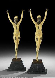 D.H. Chiparus - Bronze Art-Déco - Couple des Danseuses - France XXe siècle