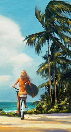 Surf Check Painting by Wade Koniakowsky #Art